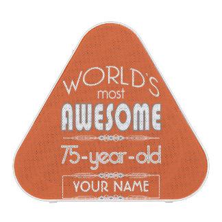 75th Birthday Worlds Best Fabulous Flame Orange
