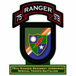 75th Ranger Rgt - Airborne - Special Troops Bn Standing Photo Sculpture