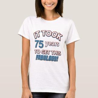 75th year birthday designs T-Shirt