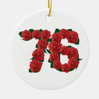76  76th Birthday Anniversary number Ceramic Ornament