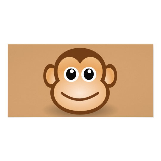 76-Free-Cute-Cartoon-Monkey-Clipart-Illustration Picture Card