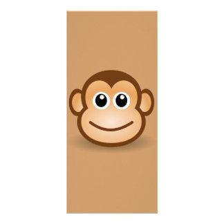 76-Free-Cute-Cartoon-Monkey-Clipart-Illustration Rack Card Design