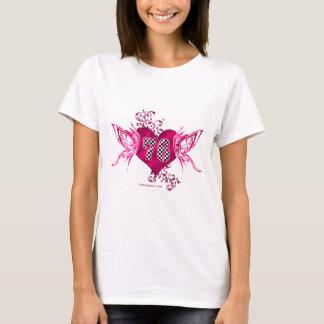 76 number pink racing T-Shirt