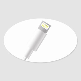 76Smart Phone Connector_rasterized Oval Sticker