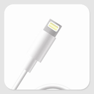 76Smart Phone Connector_rasterized Square Sticker