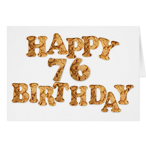 76th Birthday card for a cookie lover