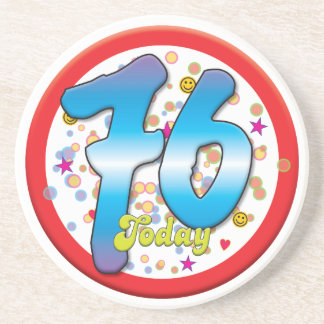 76th Birthday Today Beverage Coasters