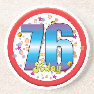 76th Birthday Today v2 Beverage Coaster