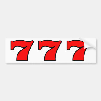 777 BUMPER STICKER