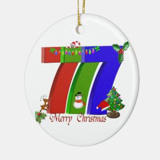 777 Merry Christmas Las Vegas Ornament