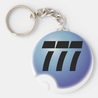 777 sur bulle basic round button key ring