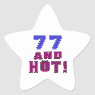 77 birthday designs star sticker