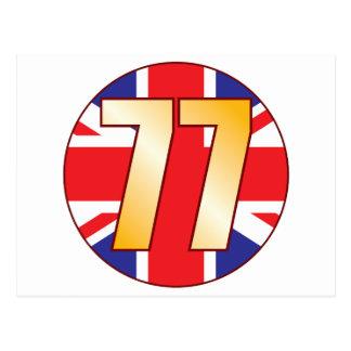 77 UK Gold Postcard