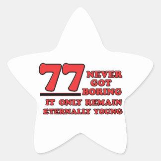 77 years Old birthday designs Star Sticker