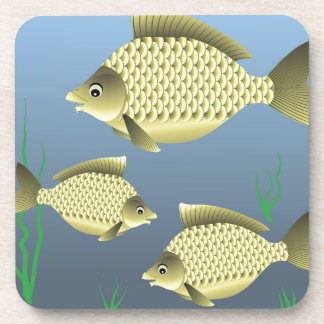 77Fish_rasterized Coaster