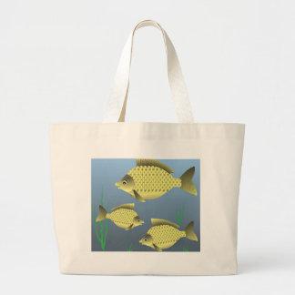 77Fish_rasterized Large Tote Bag