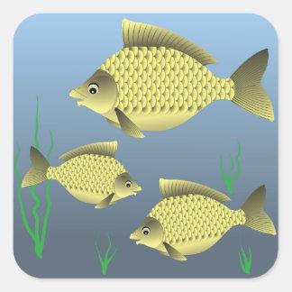 77Fish_rasterized Square Sticker