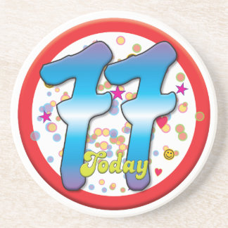 77th Birthday Today Coasters