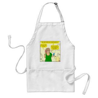 780 nosy busy body cartoon standard apron