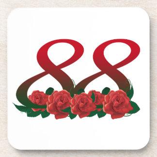 78  78th birthday anniversary number coaster