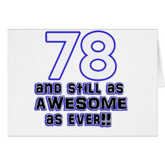 78 birthday design card
