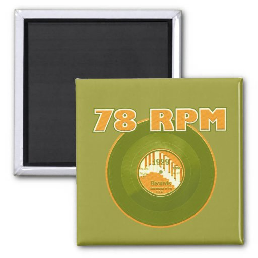 78 RPM 1929 Record Refrigerator Magnet
