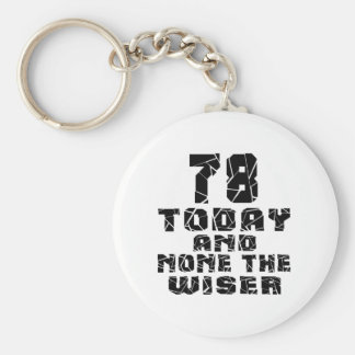 78 Today And None The Wiser Basic Round Button Key Ring