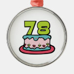 78 Year Old Birthday Cake Christmas Ornament