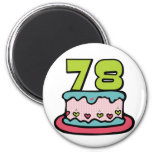 78 Year Old Birthday Cake Refrigerator Magnets