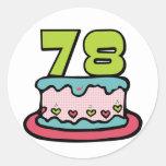 78 Year Old Birthday Cake Stickers