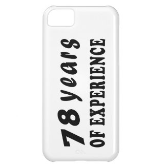 78 years of experience iPhone 5C covers