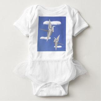 78Paper Birds _rasterized Baby Bodysuit