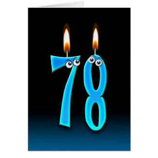 78th Birthday Candles Card
