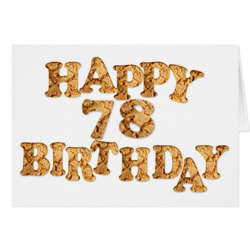 78th Birthday card for a cookie lover