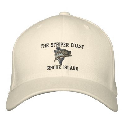79_1, The Striper Coast, RHODE ISLAND Embroidered Hat