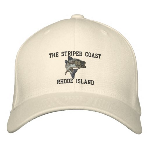 79_1, The Striper Coast, RHODE ISLAND Embroidered Baseball Caps