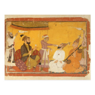 ]7.110/359 Gosain Narayan takes poison in the pres Postcard