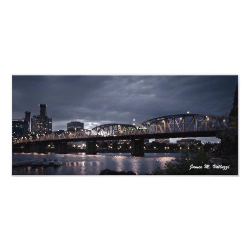 7.29 x 16.5 Hawthorne Bridge Portland, Oregon Photograph