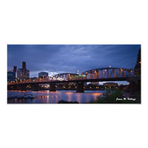 7.29 x 16.5 Hawthorne Bridge Portland, Oregon Photo Print