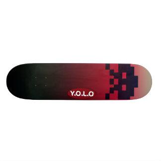 "7 3/4"" Yolo Gamer Skateboard deck design"