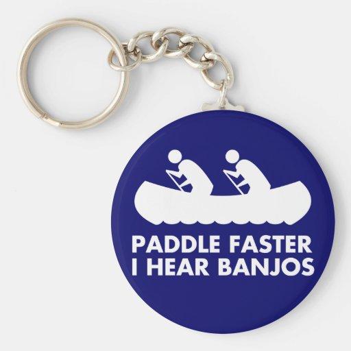 $7.50 Paddle Faster I Hear Banjos Keychain