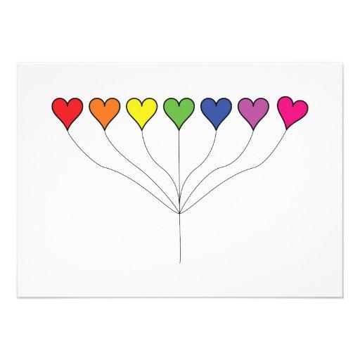 7 Balloon Hearts (2) Birthday Announcement