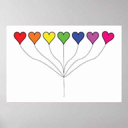 7 Balloon Hearts (2) Birthday Posters