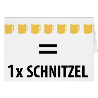 7 Bier sind ein Schnitzel icon Greeting Card