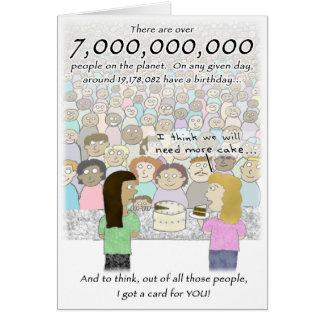 7 Billion People Birthday Card