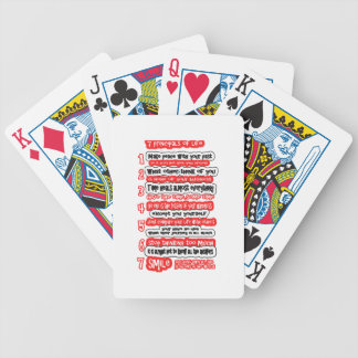 7 CARDINAL RULES FOR LIFE  Graphic Art Wisdom Text Bicycle Playing Cards