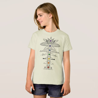 7 Chakra Energy System, Girls Organic T-shirt