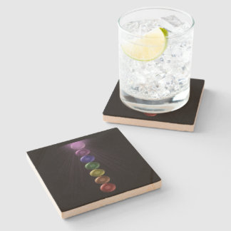 7 Chakra Square Drinks Coaters Stone Coaster