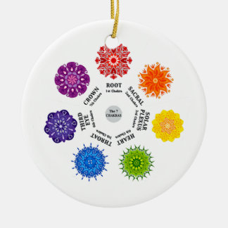 7 Chakra wheel Ceramic Ornament