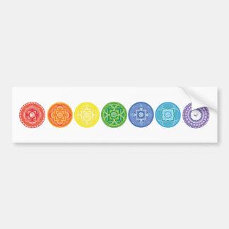 7 Chakras Bumper Sticker